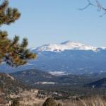 Der Pikes Peak von Westen gesehen