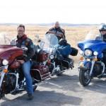Nette Holländer auf Harleys