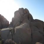Sascha auf einer Felsformation