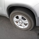Reifenschaden am Mietwagen