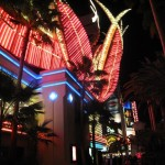 Neonreklame des Flamingo Casino auf dem Las Vegas Boulevard