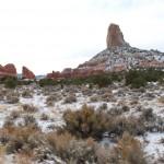 Schnee im Monument Valley