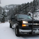 Unser Truck in den Rocky Mountains